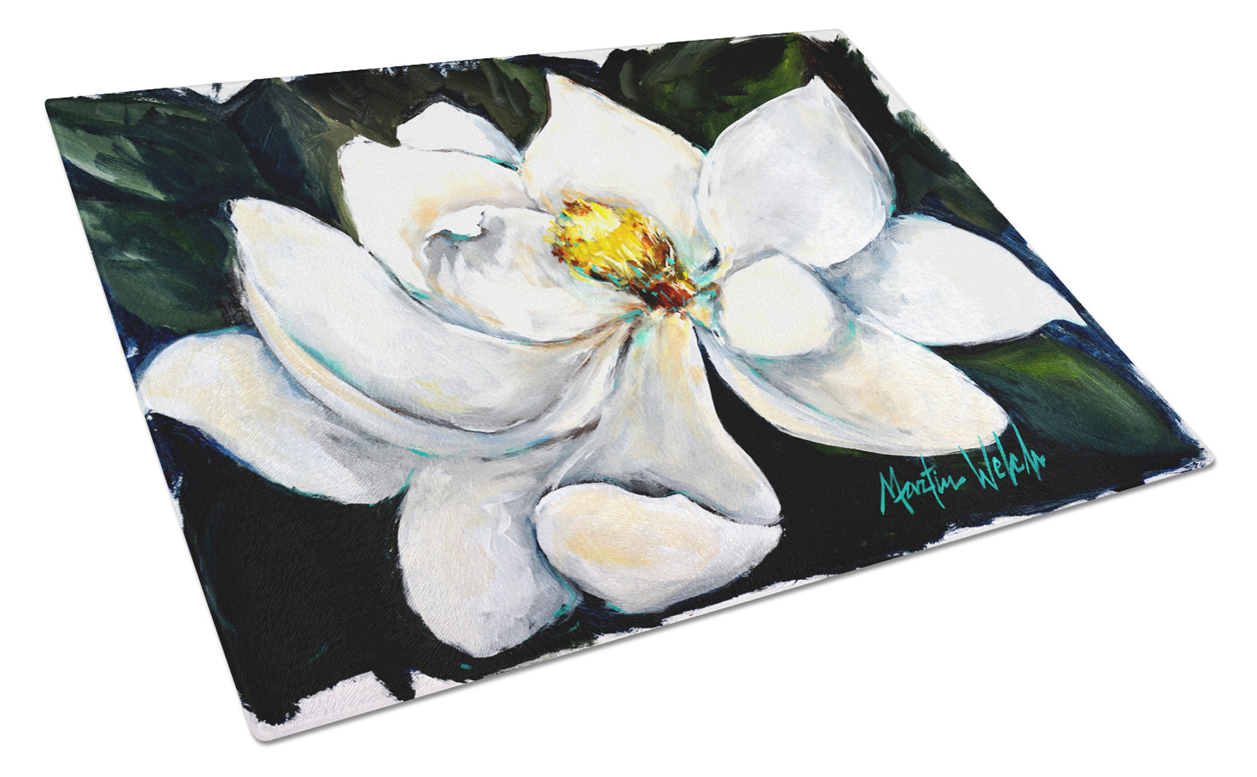Buy this Sweet Magnolia Glass Cutting Board Large MW1282LCB