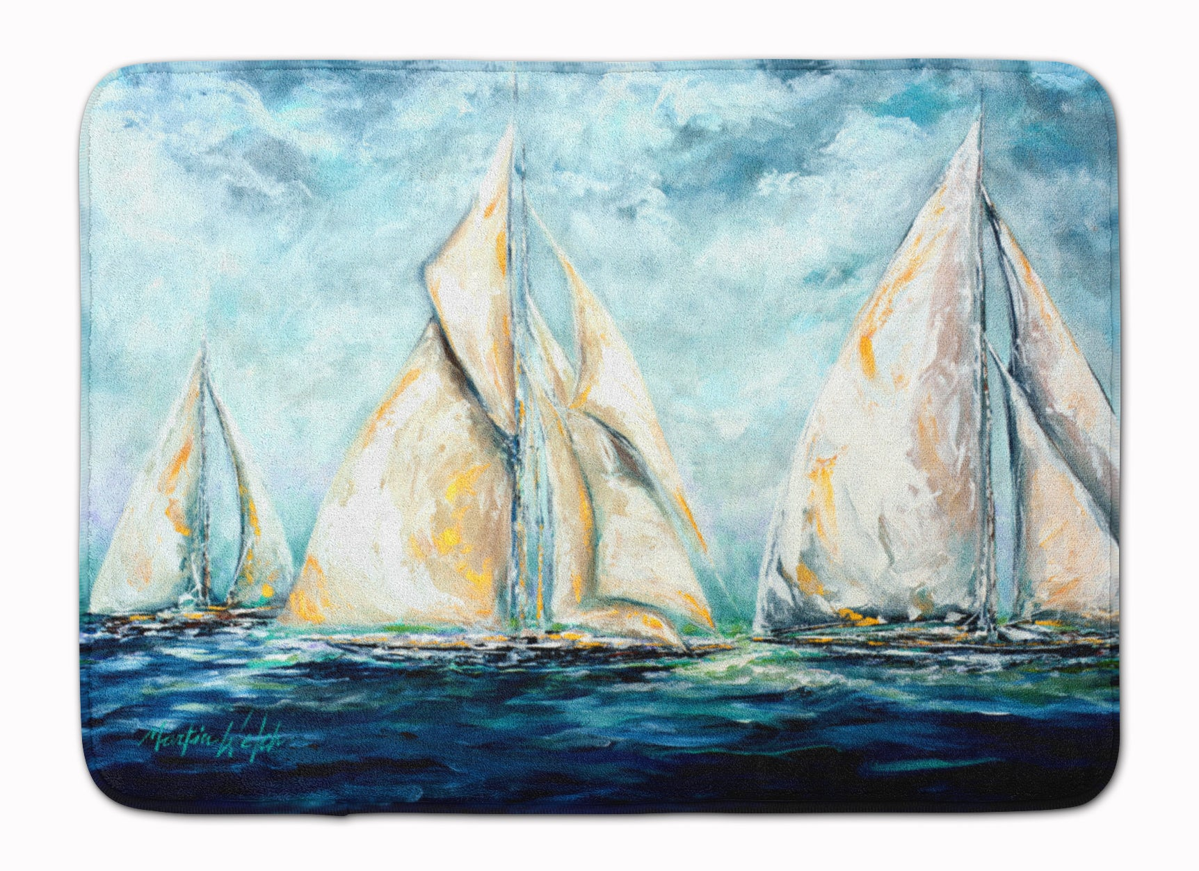 Buy this The Last Mile Sail boats Machine Washable Memory Foam Mat MW1283RUG