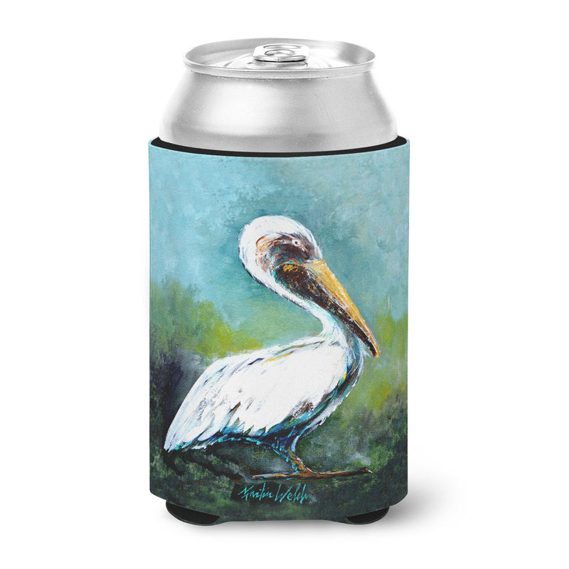 Buy this Blue Stand White Pelican Can or Bottle Hugger MW1309CC