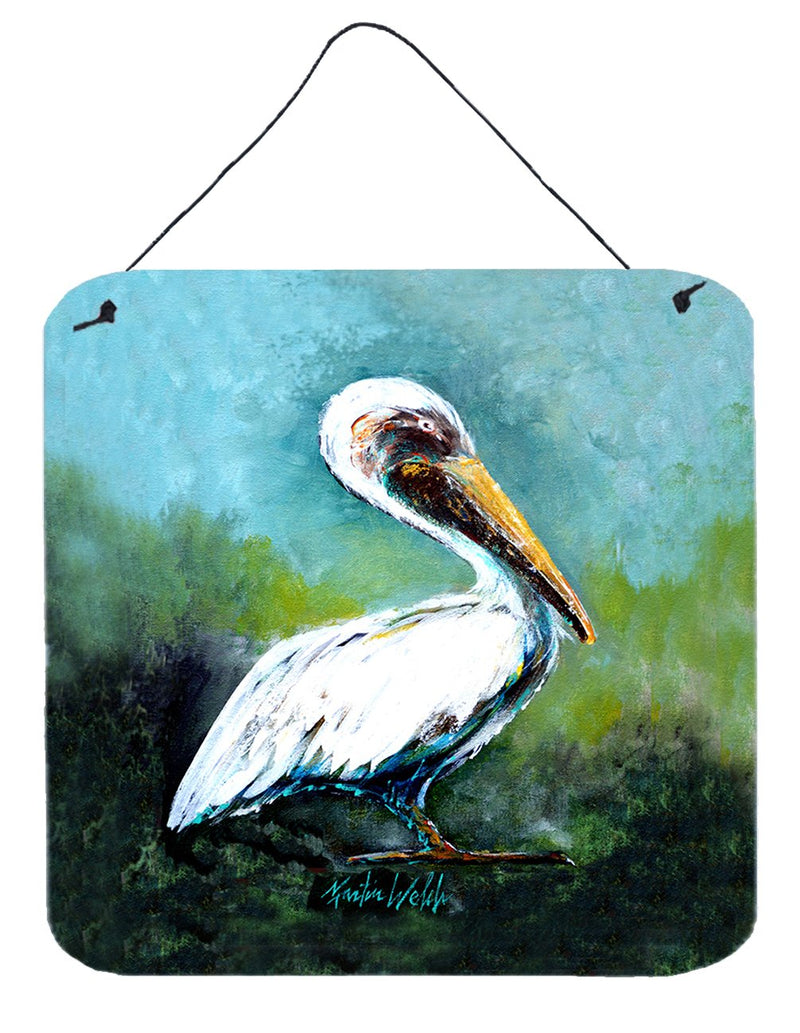 Buy this Blue Stand White Pelican Wall or Door Hanging Prints MW1309DS66