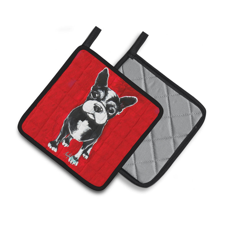 Buy this Boston Terrier Runt Pair of Pot Holders MW1314PTHD