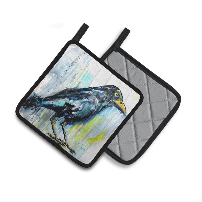 Buy this Burnt Corn Raven Pair of Pot Holders MW1318PTHD