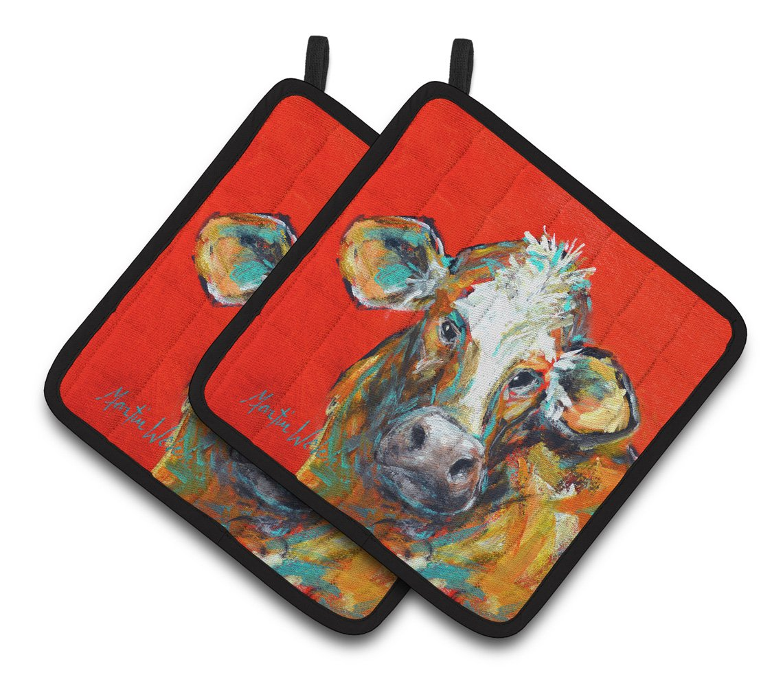 Buy this Cow Caught Red Handed Too Pair of Pot Holders MW1319PTHD