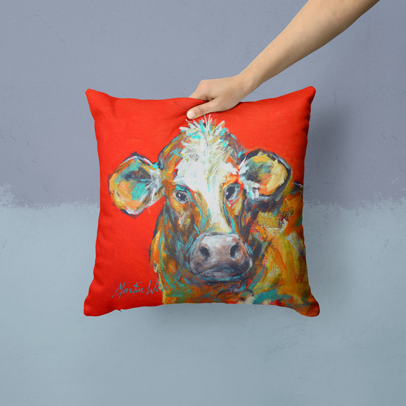 Buy this Cow Caught Red Handed Too Fabric Decorative Pillow MW1319PW1414