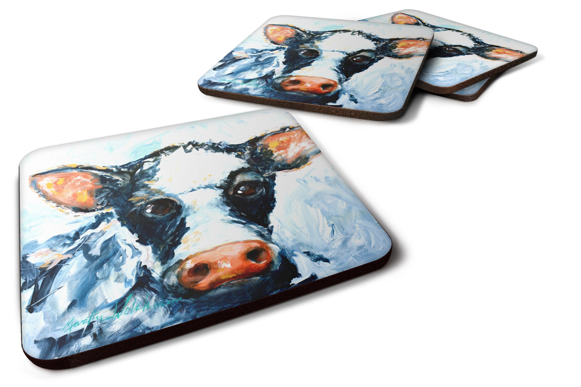 Buy this Cow Lick Foam Coaster Set of 4 MW1320FC