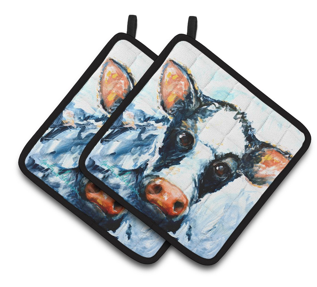 Buy this Cow Lick Pair of Pot Holders MW1320PTHD
