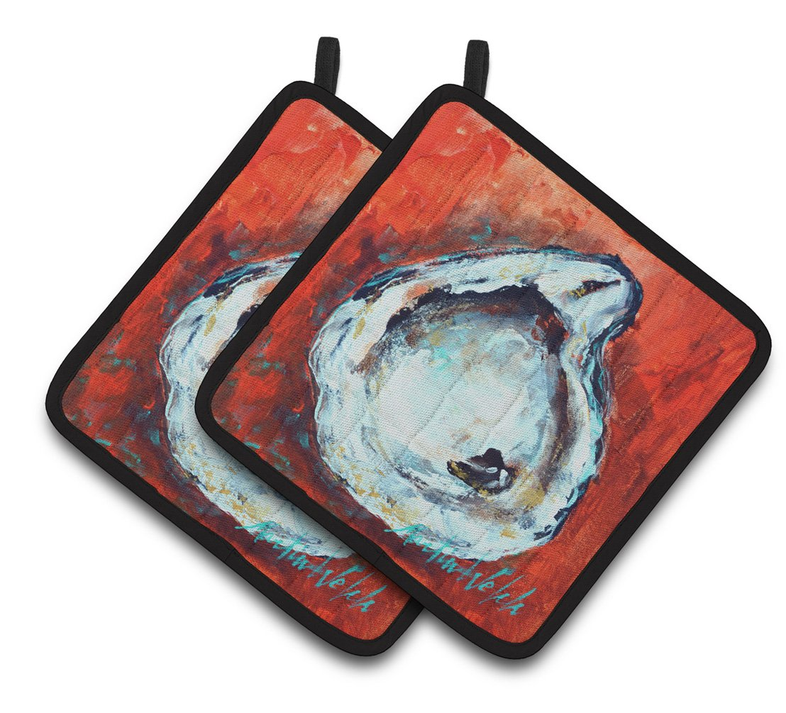 Buy this Char Broiled Oyster Pair of Pot Holders MW1321PTHD