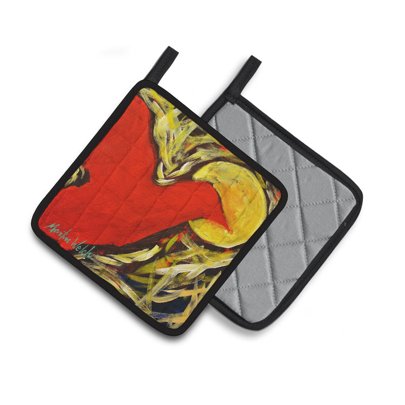 Buy this Crow at Midnight Pair of Pot Holders MW1323PTHD