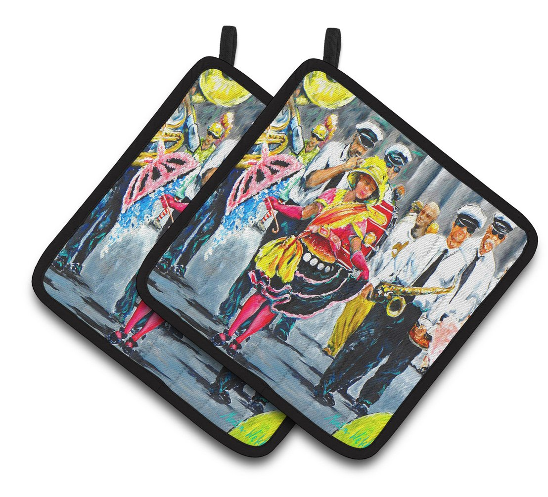Buy this Mardi Gras Dancin' in the Street Pair of Pot Holders MW1324PTHD