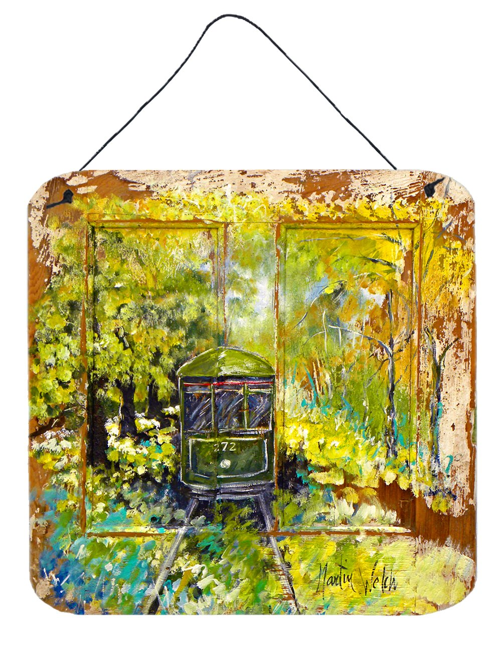 Streetcar End of the Line Wall or Door Hanging Prints MW1326DS66 by Caroline's Treasures