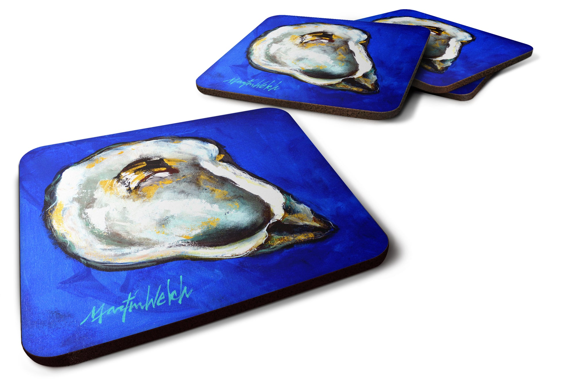 Buy this Oyster Gray Shell Foam Coaster Set of 4 MW1329FC