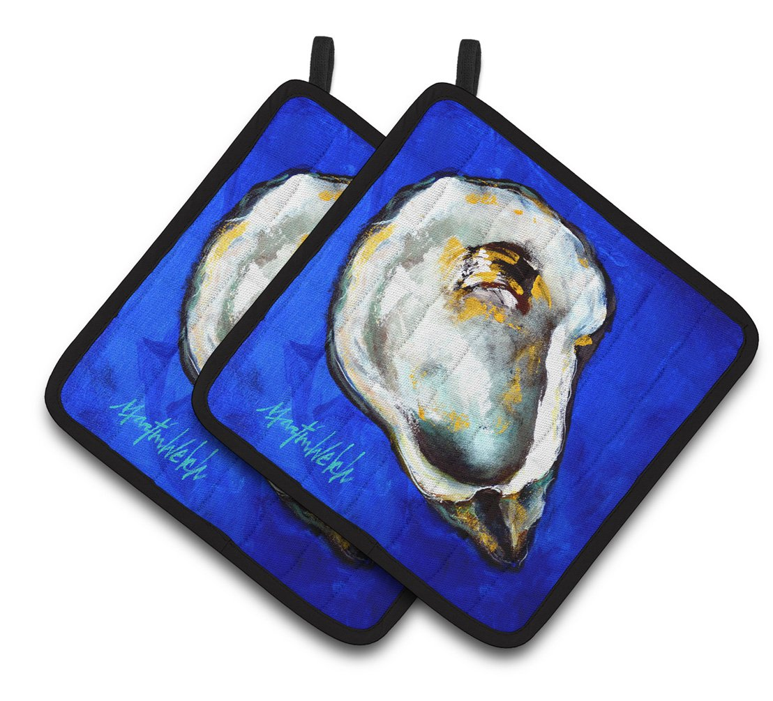 Oyster Gray Shell Pair of Pot Holders MW1329PTHD by Caroline's Treasures