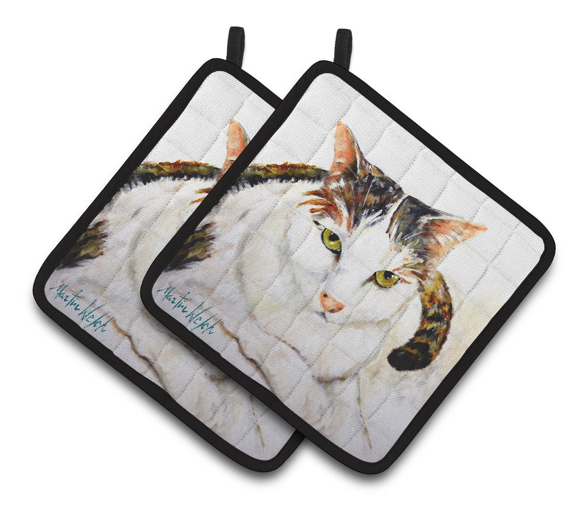 Buy this Lanie Cat Pair of Pot Holders MW1334PTHD