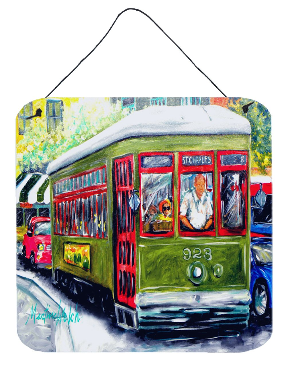 Streetcar Mid Summer Wall or Door Hanging Prints MW1338DS66 by Caroline's Treasures