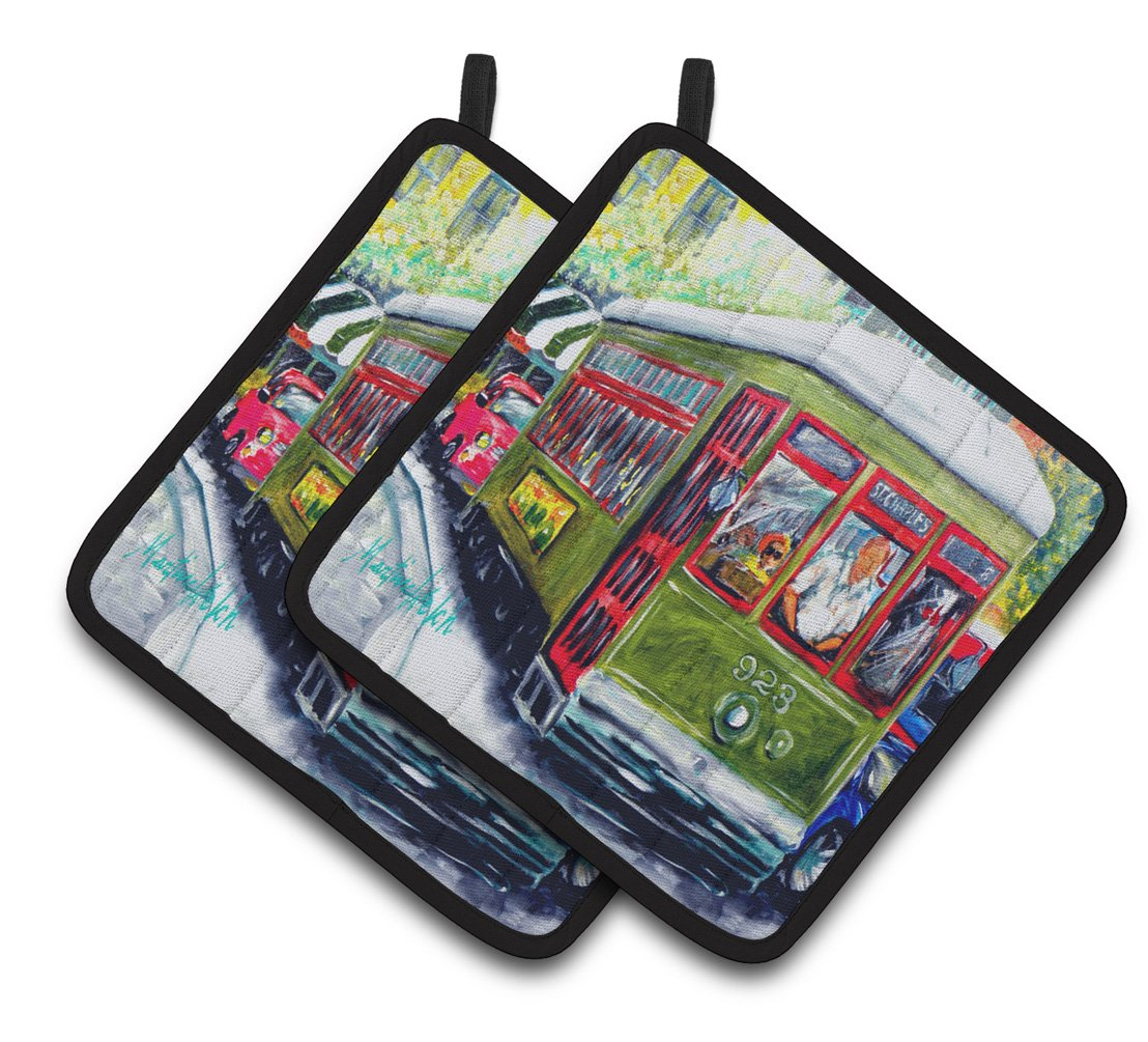 Buy this Streetcar Mid Summer Pair of Pot Holders MW1338PTHD