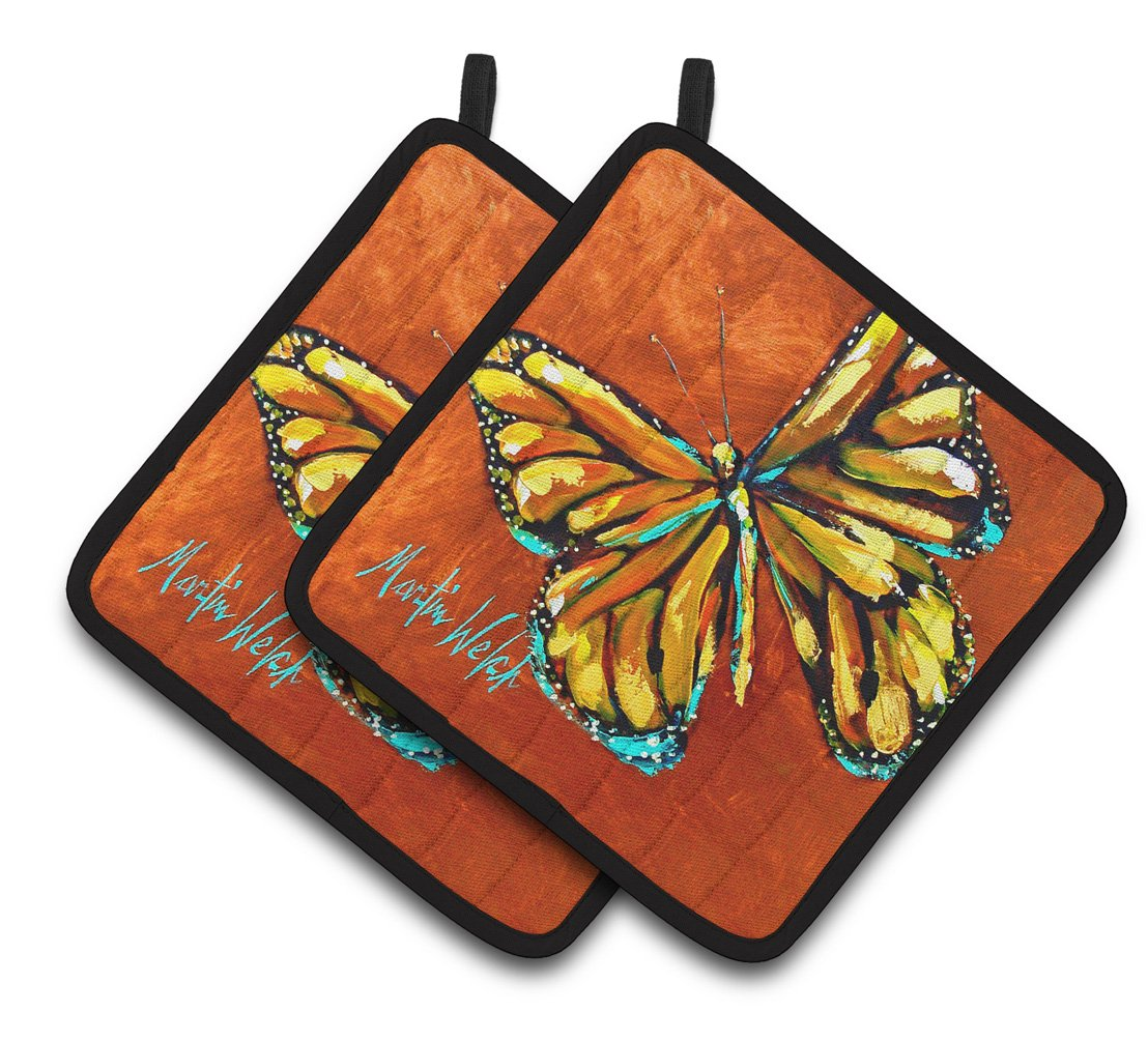Buy this Monarch Butterfly Pair of Pot Holders MW1339PTHD