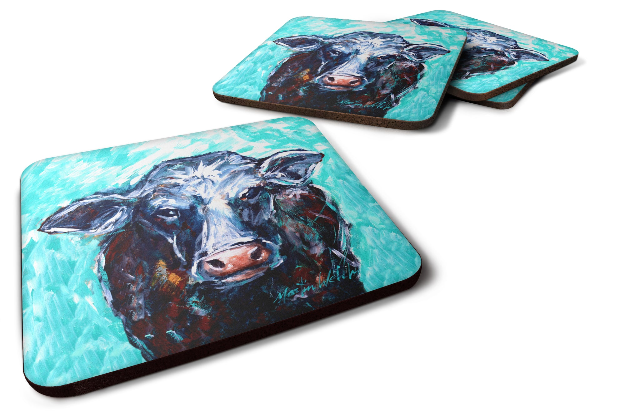 Buy this Moo Cow Foam Coaster Set of 4 MW1340FC