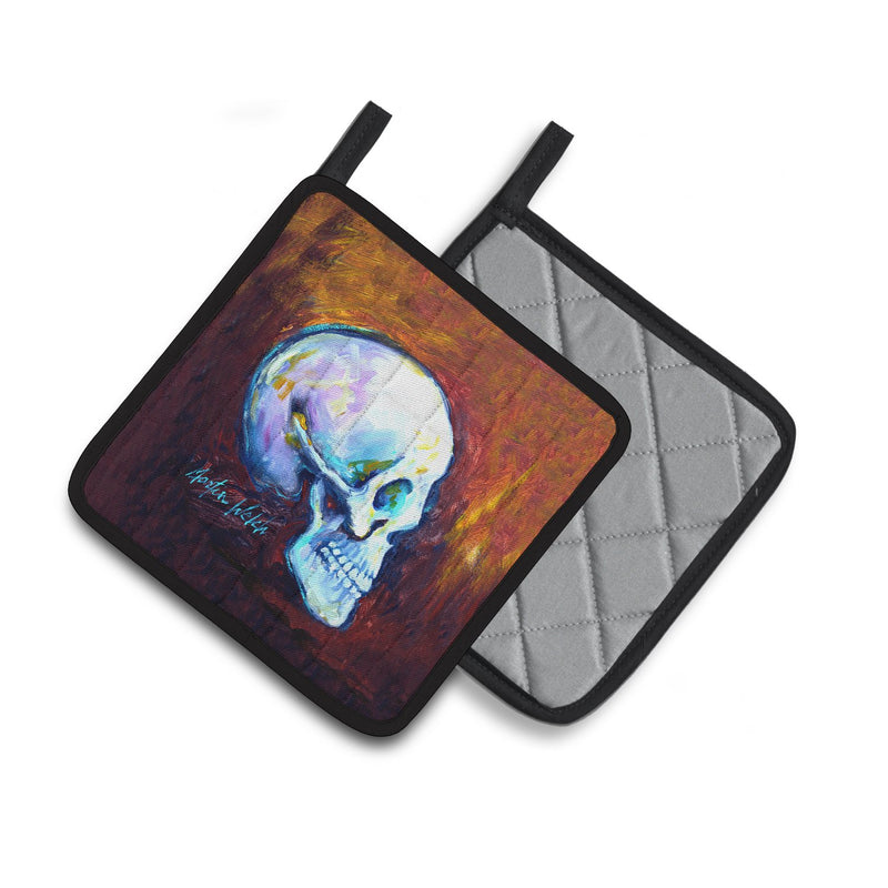 Buy this Skeleton My Best Side Pair of Pot Holders MW1341PTHD