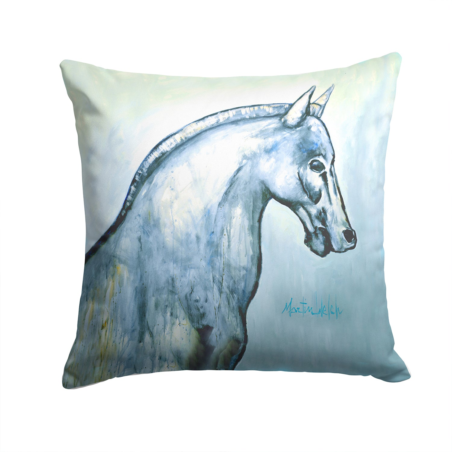 Noble Horse Fabric Decorative Pillow MW1342PW1414 by Caroline's Treasures
