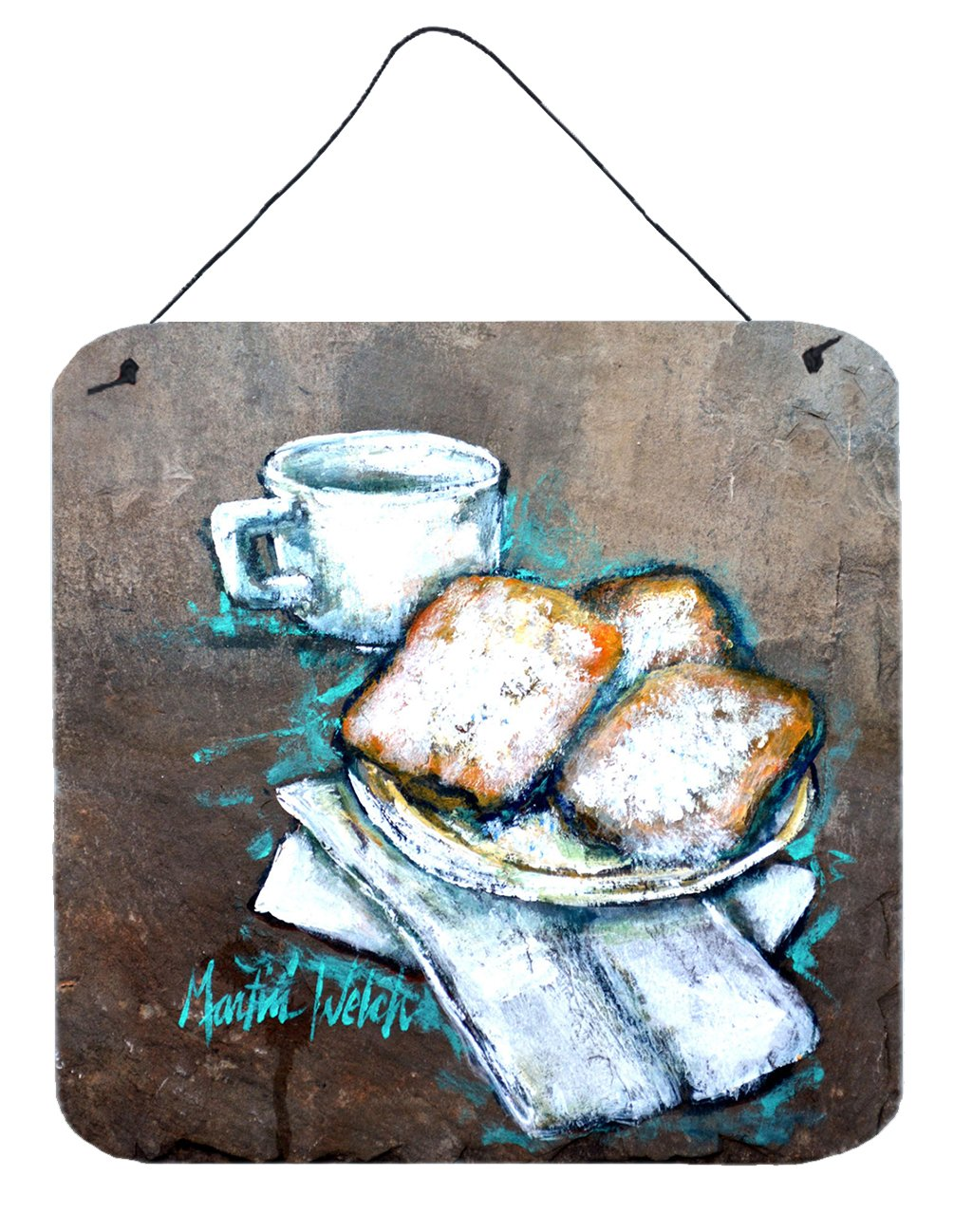 Beignets Piping Hot Wall or Door Hanging Prints MW1344DS66 by Caroline's Treasures