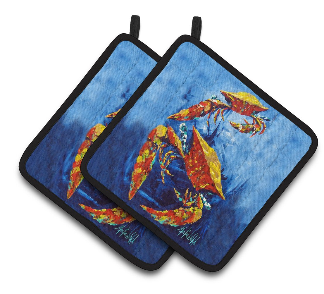 Buy this Crab Puddle O' Two Pair of Pot Holders MW1345PTHD