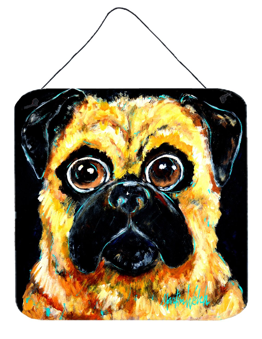 Buy this Pug It Out Wall or Door Hanging Prints MW1346DS66