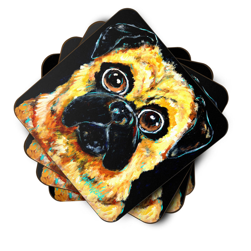 Buy this Pug It Out Foam Coaster Set of 4 MW1346FC