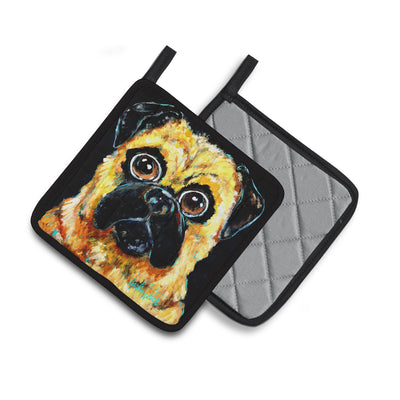 Pug It Out Pair of Pot Holders MW1346PTHD