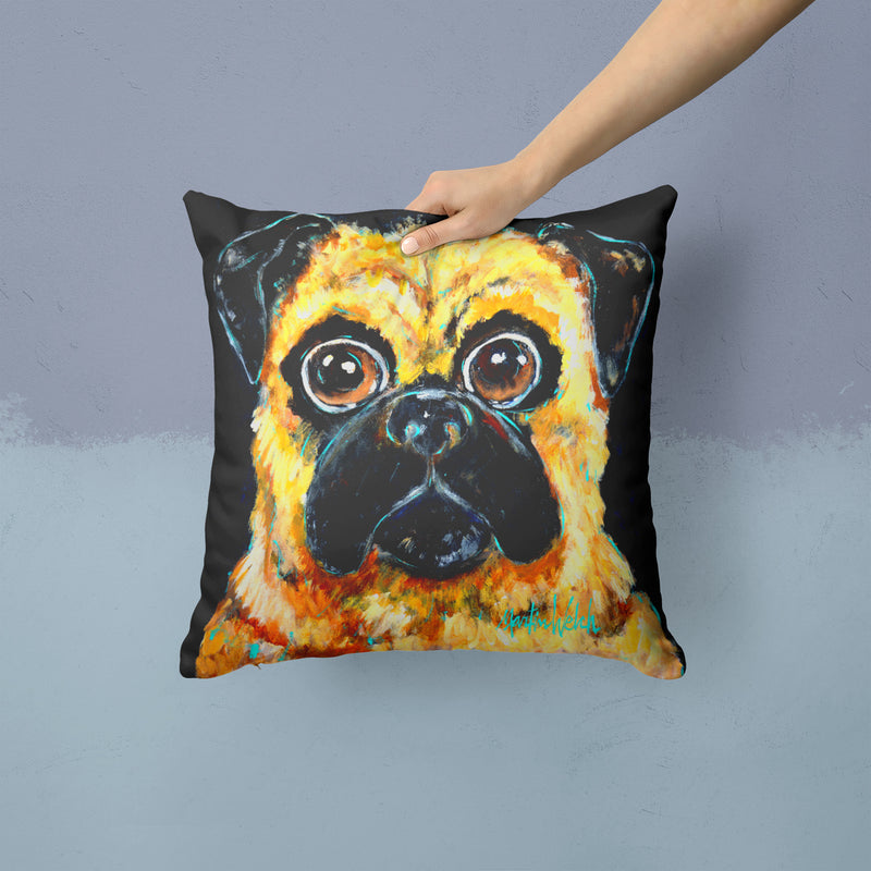 Buy this Pug It Out Fabric Decorative Pillow MW1346PW1414