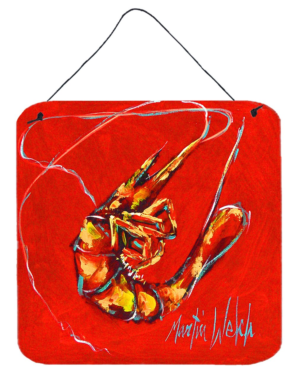 Red Shrimp Wall or Door Hanging Prints MW1347DS66 by Caroline's Treasures