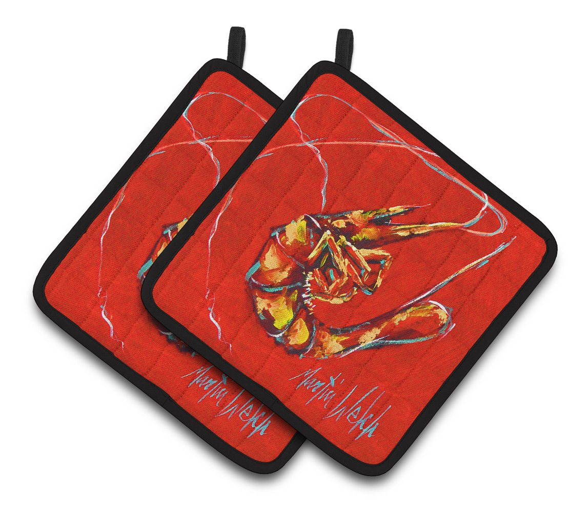 Buy this Red Shrimp Pair of Pot Holders MW1347PTHD