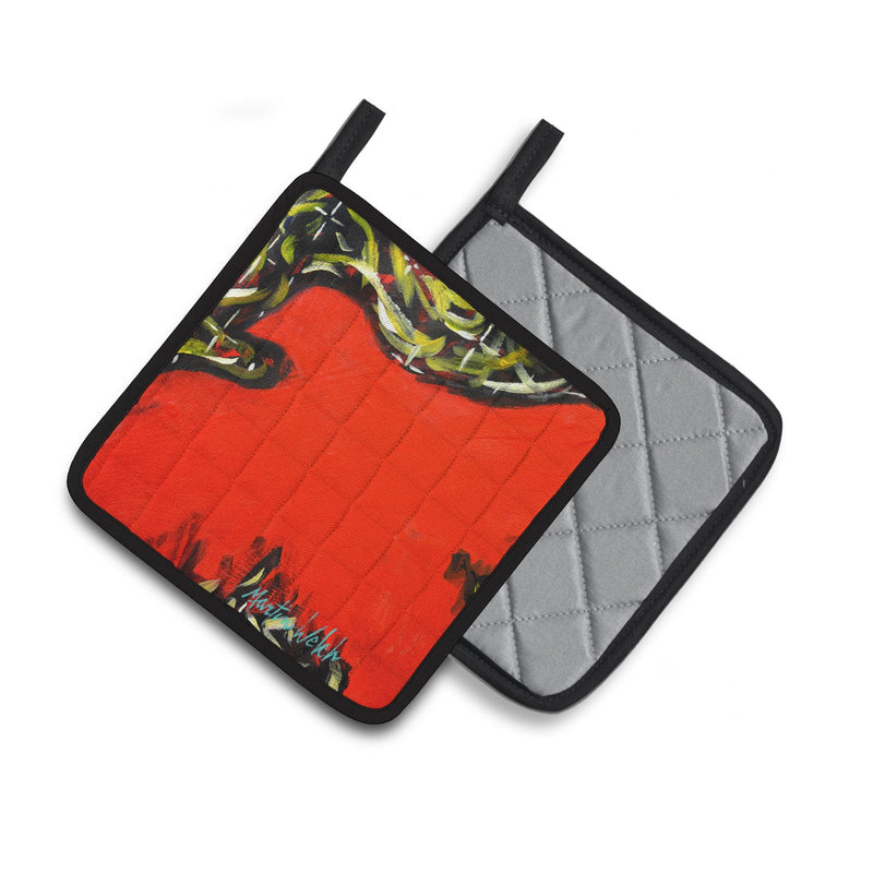 Buy this Scared Crow Pair of Pot Holders MW1348PTHD