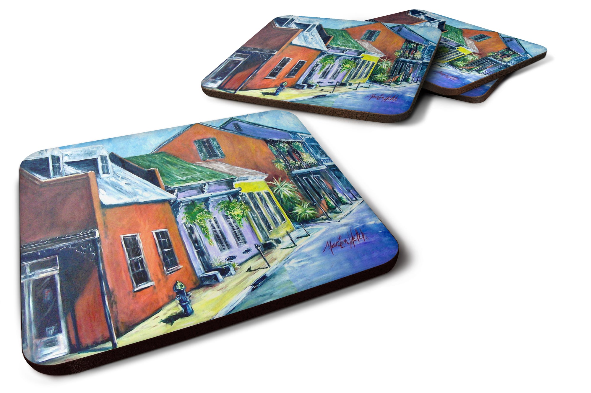 Buy this Somewhere Close Houses Foam Coaster Set of 4 MW1350FC