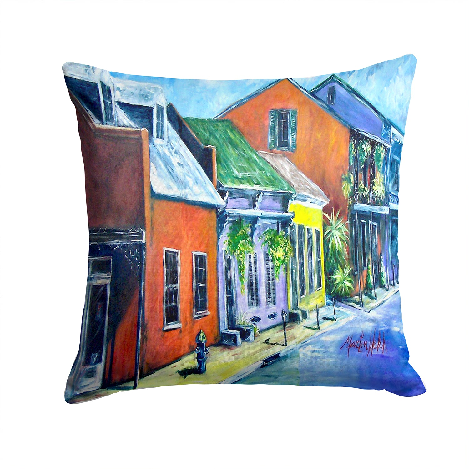 Buy this Somewhere Close Houses Fabric Decorative Pillow MW1350PW1414