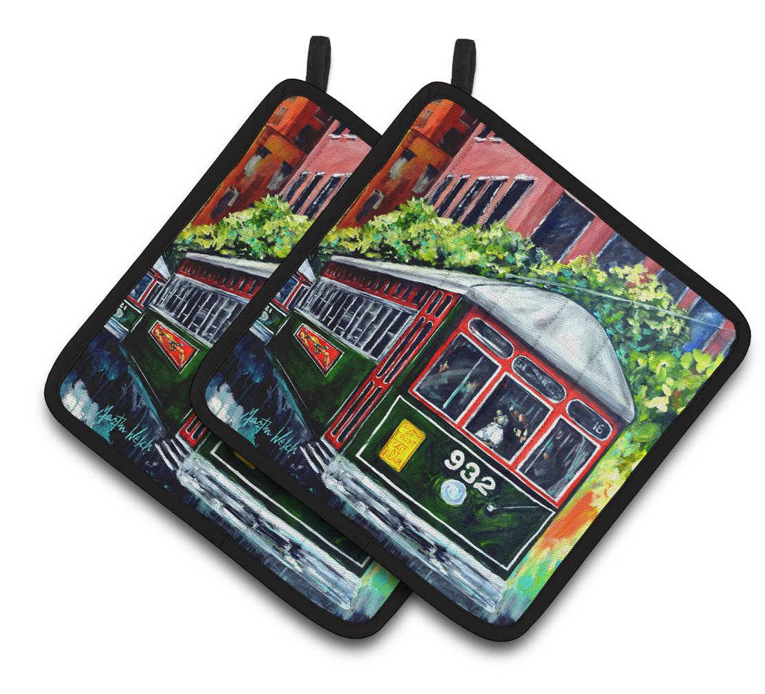 Buy this Streetcar St. Charles #2 Pair of Pot Holders MW1351PTHD