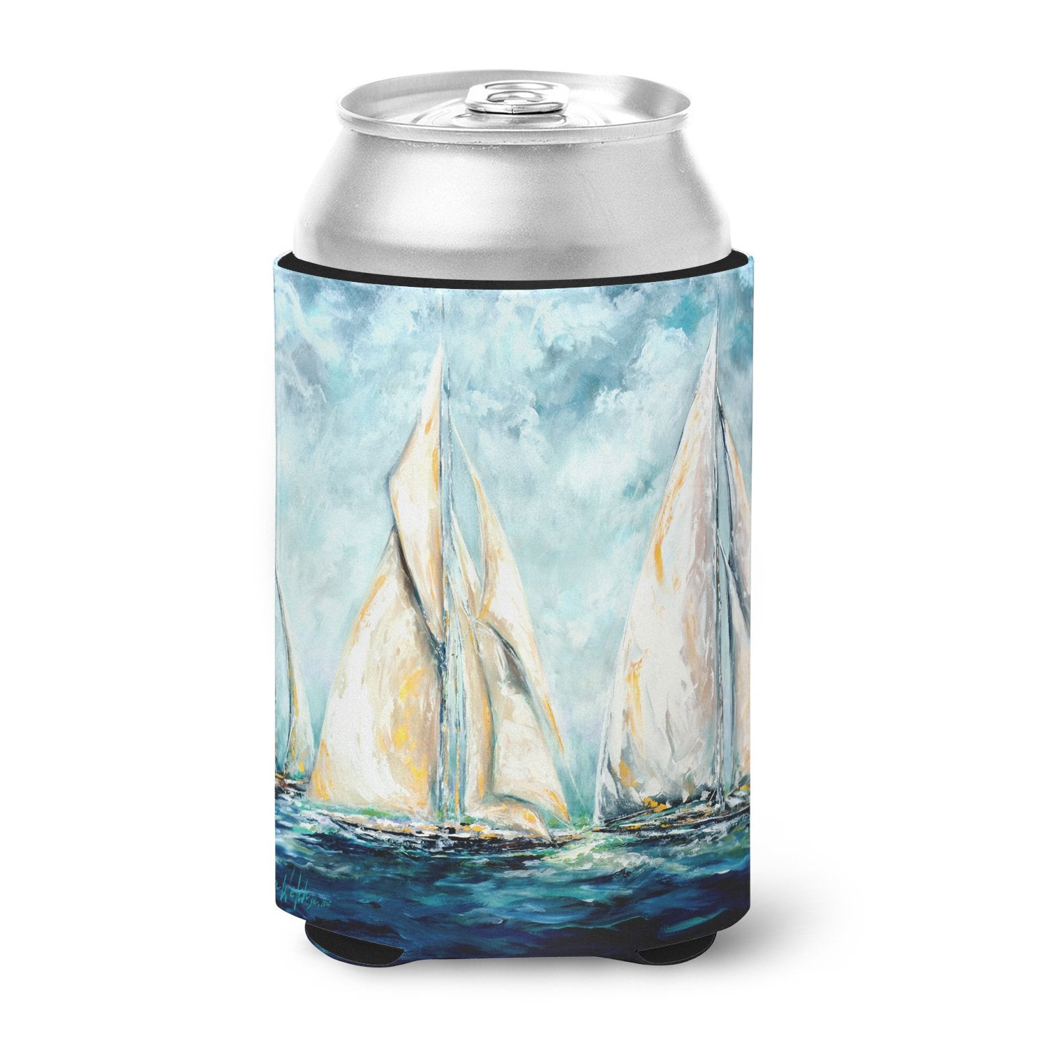 Sailboats Last Mile Can or Bottle Hugger MW1355CC by Caroline's Treasures