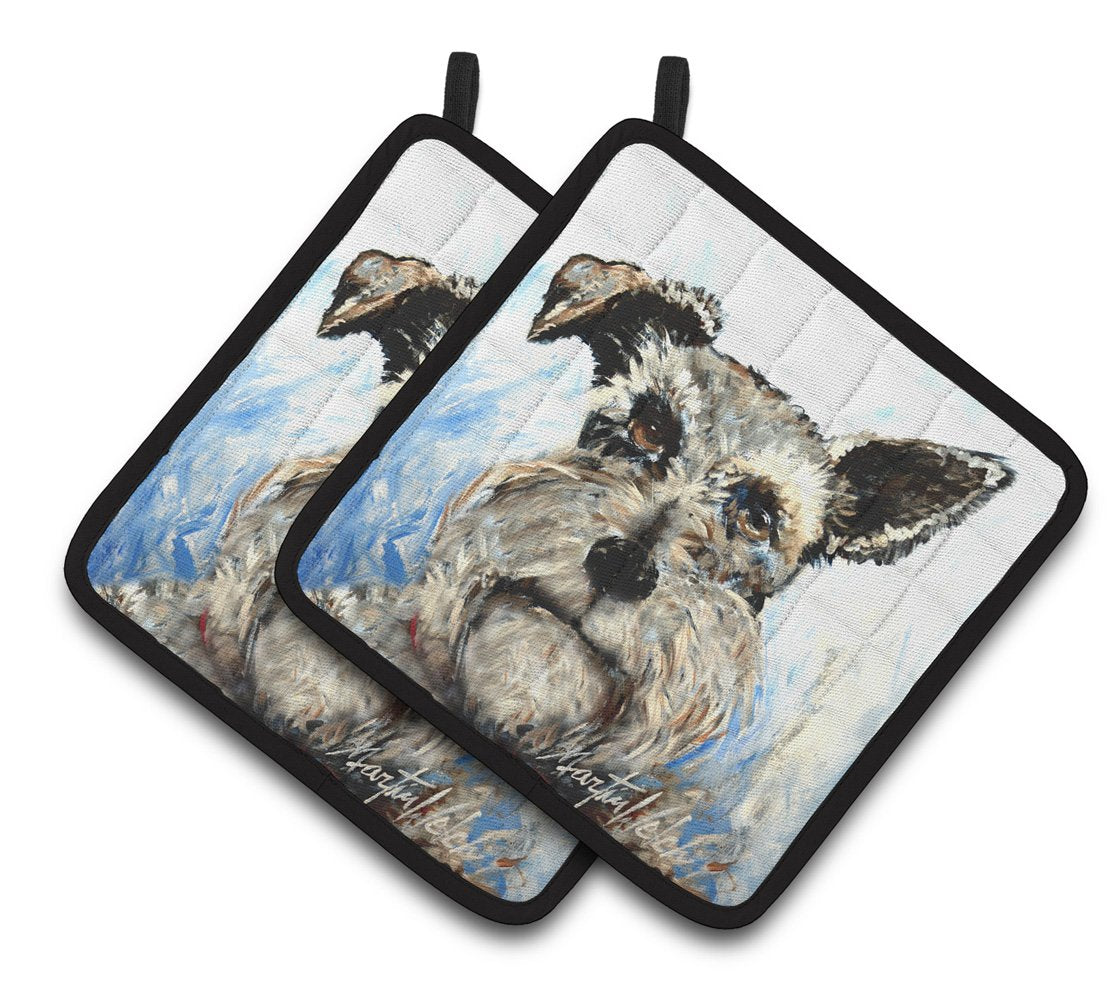 Buy this Schnauzer Whiter Beard Pair of Pot Holders MW1358PTHD