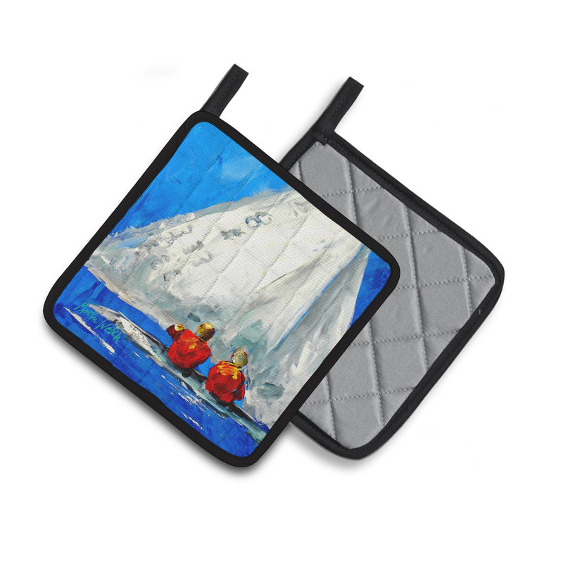Buy this Sailboat Two's Company Pair of Pot Holders MW1360PTHD