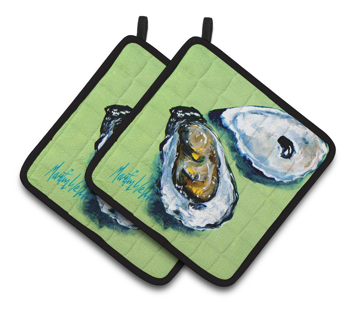 Buy this Two Shells Oyster Pair of Pot Holders MW1361PTHD