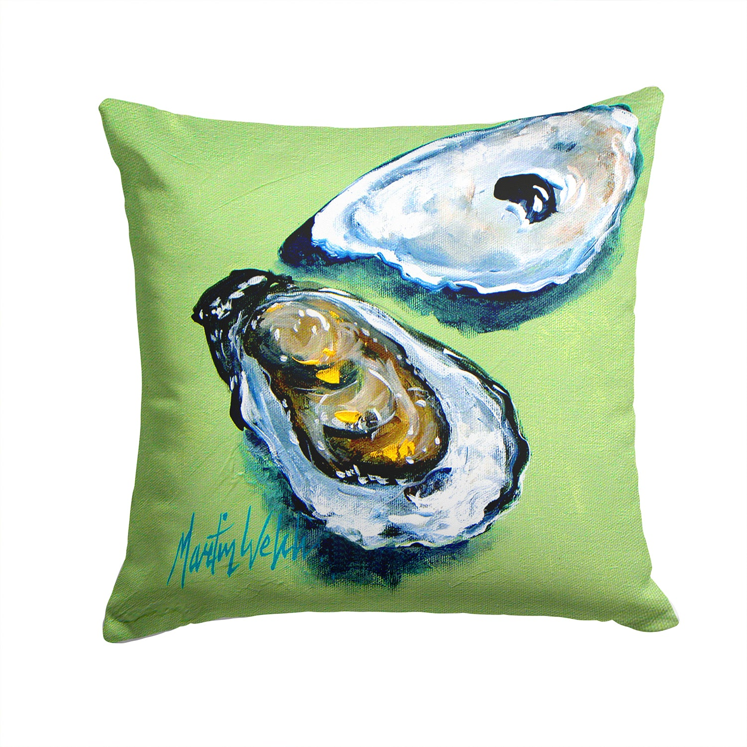 Two Shells Oyster Fabric Decorative Pillow MW1361PW1414 by Caroline's Treasures
