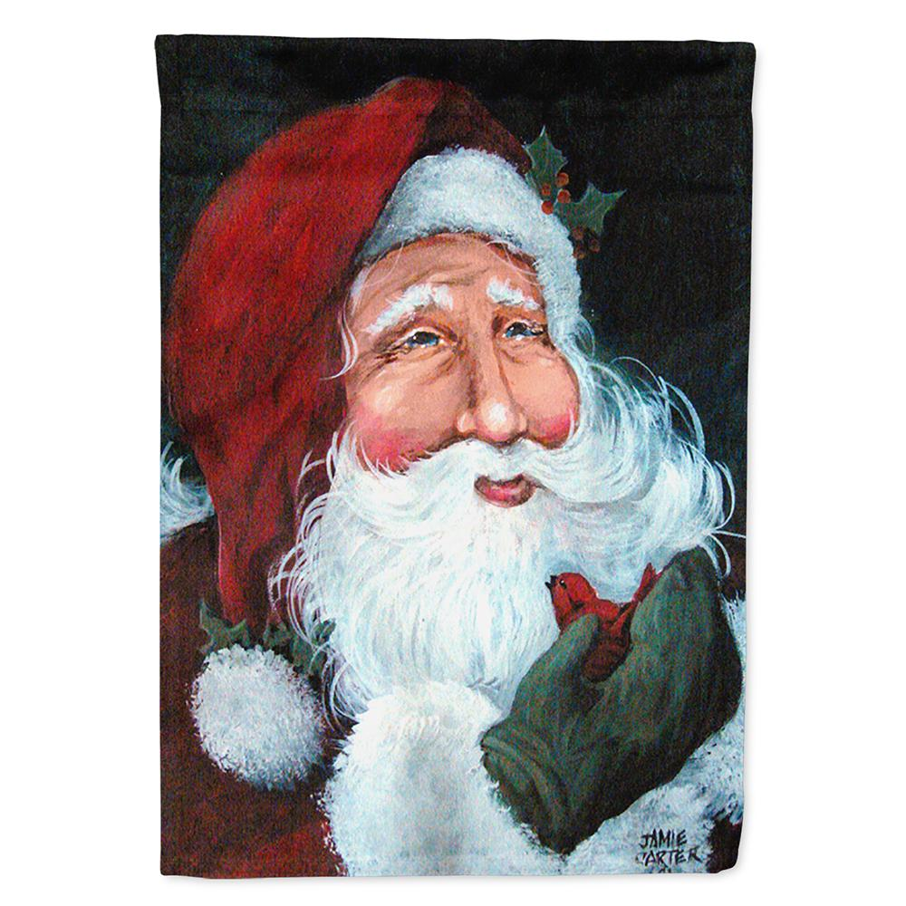 A Little Bird Told Me Santa Claus Flag Garden Size PJC1001GF by Caroline's Treasures