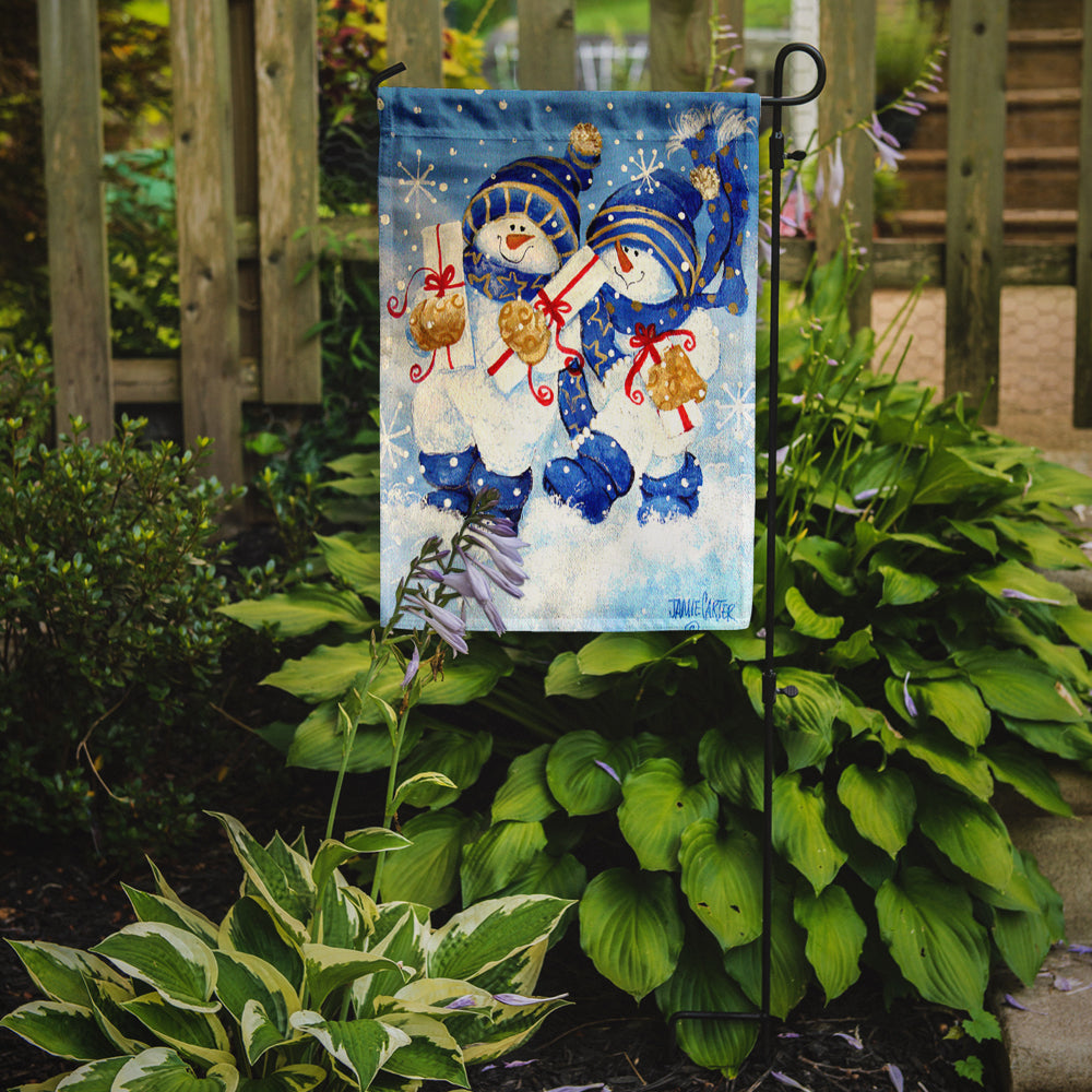Holiday Delivery Snowman Flag Garden Size PJC1014GF by Caroline's Treasures