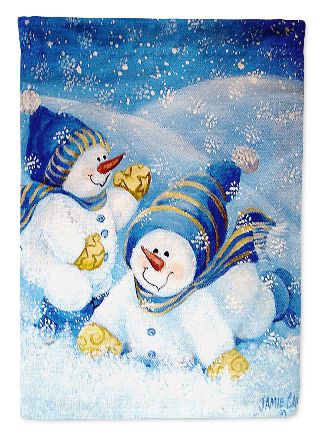 Snow babies At Play Snowman Flag Garden Size PJC1017GF by Caroline's Treasures
