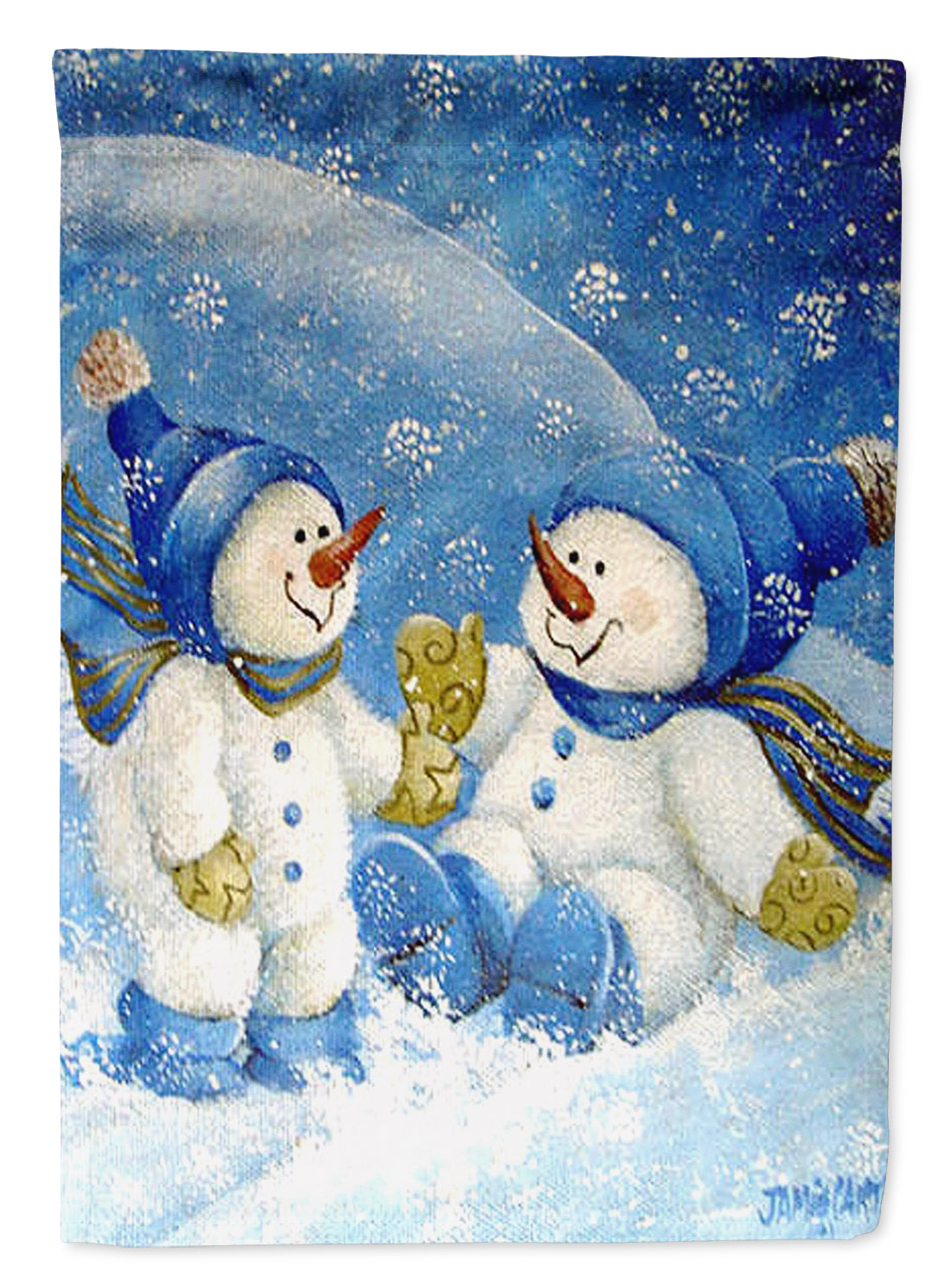 Snowflakes At Play Snowman Flag Garden Size PJC1019GF by Caroline's Treasures