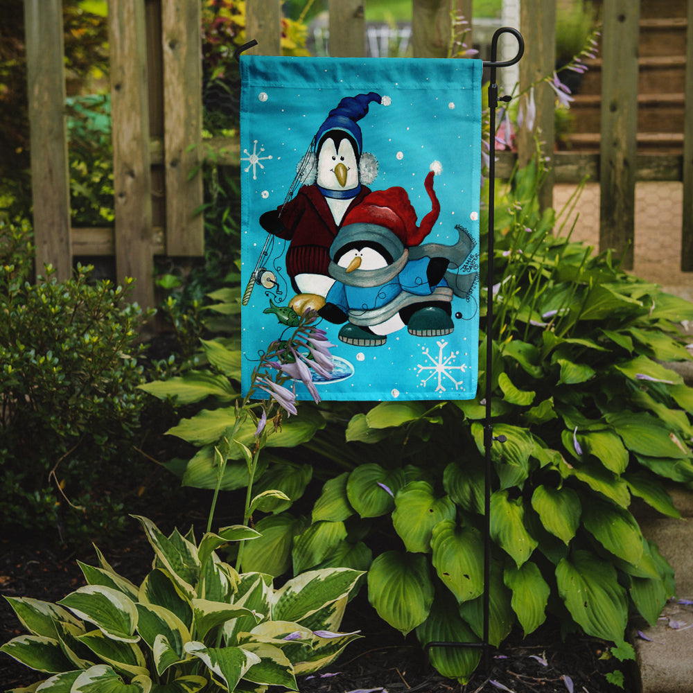 Somethin's Fishy Christmas Penguin Flag Garden Size PJC1020GF by Caroline's Treasures
