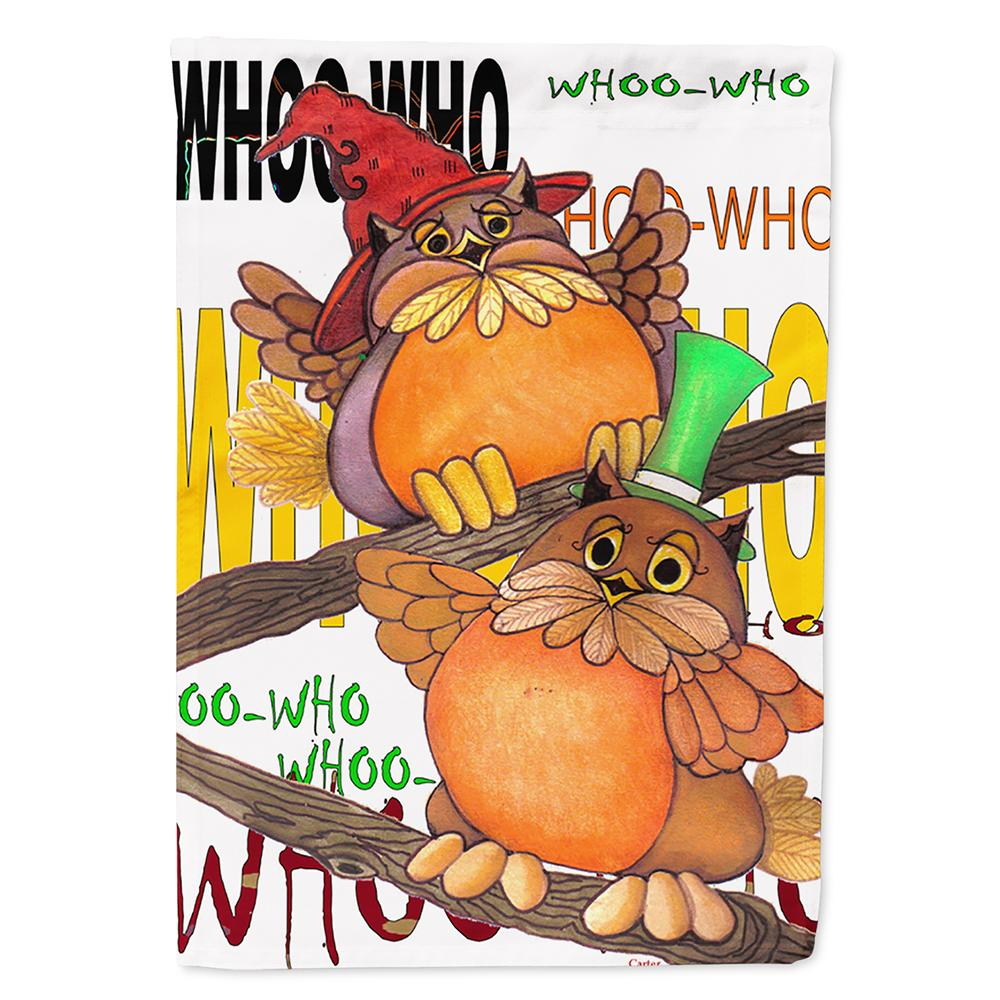 Whoo Who Owl Flag Garden Size PJC1032GF by Caroline's Treasures