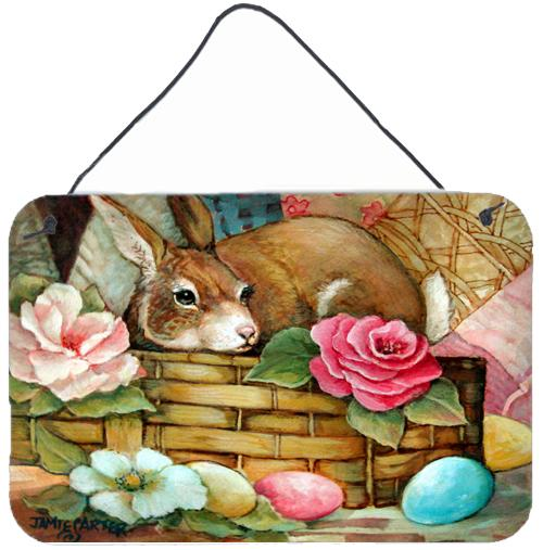 A Touch of Color Rabbit Easter Wall or Door Hanging Prints by Caroline's Treasures