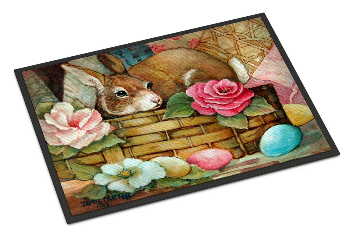 A Touch of Color Rabbit Easter Indoor or Outdoor Mat 18x27 PJC1063MAT - the-store.com