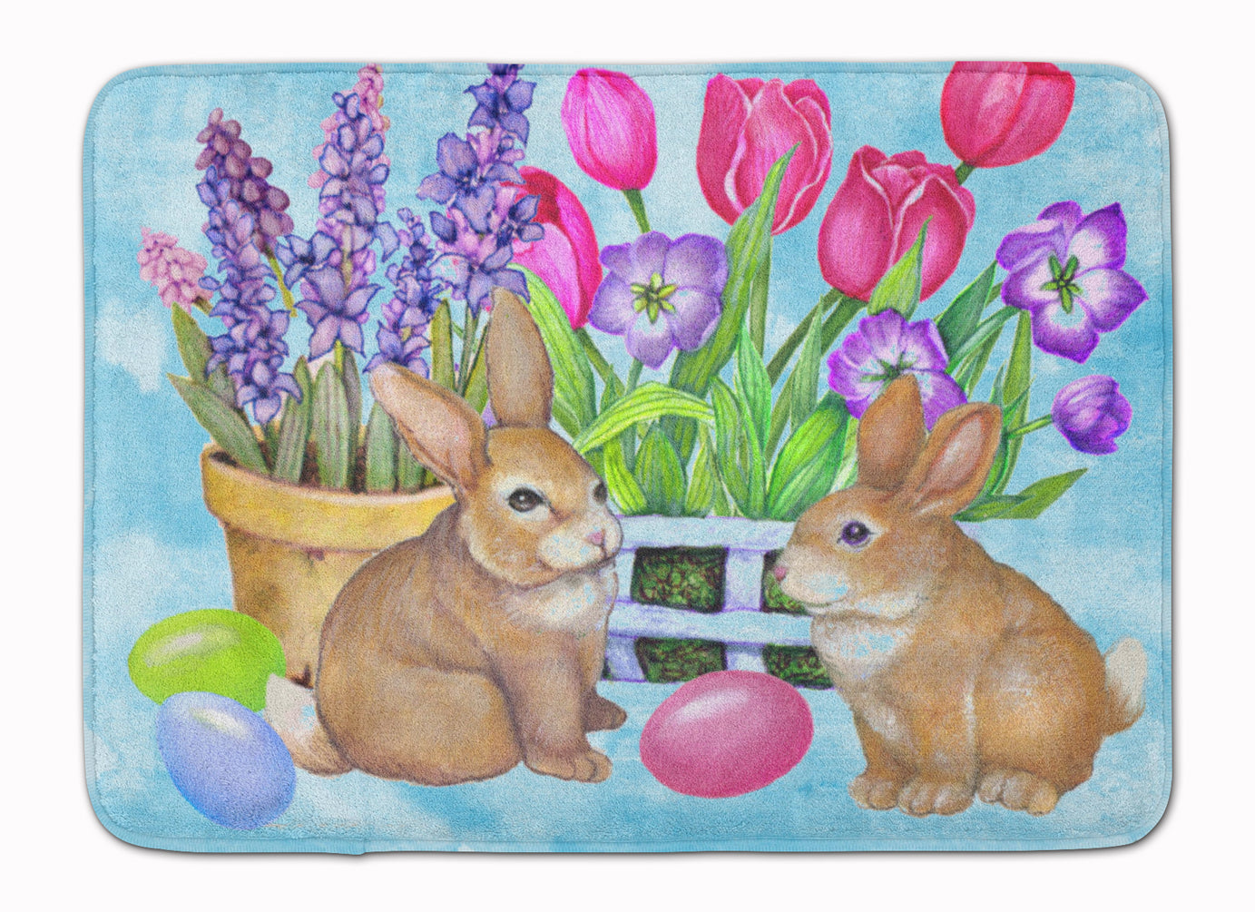 New Beginnings Easter Rabbit Machine Washable Memory Foam Mat PJC1066RUG by Caroline's Treasures