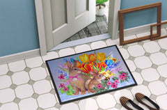 New Beginnings II Easter Rabbit Indoor or Outdoor Mat 24x36 PJC1067JMAT